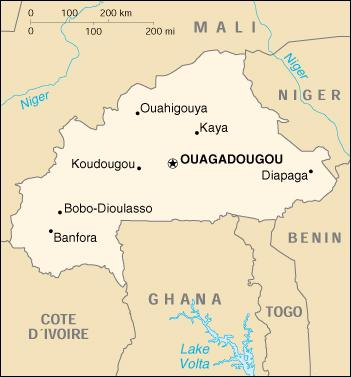 Map of Burkina Faso (google.com)
