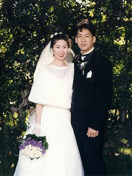 Grace & Tom at their 1997 wedding (Tom Chau)