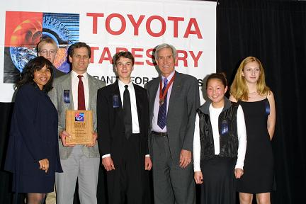 Our team receiving our grant from Toyota Tapestry. (Beth Rickard)