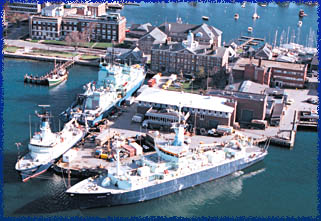 WHOI research vessels in port