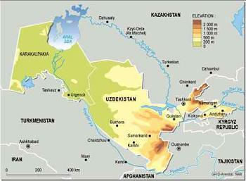Map of Uzbekistan (UNEP.org)