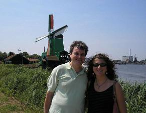 Barry Kramer and daugher Liz in Holland.