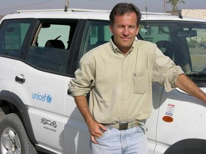 MIchael on the road with UNICEF.