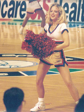 Darlene as a Philadelphia 76ers cheerleader (sciencecheerleader.com)