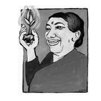 Vandana Shiva painting of hope<br> Clamor Magazine