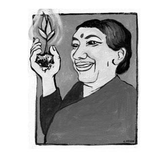 Vandana Shiva painting of hope<br> Clamor Magazine