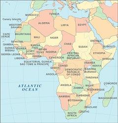 Map of Africa<br>(William's blog)