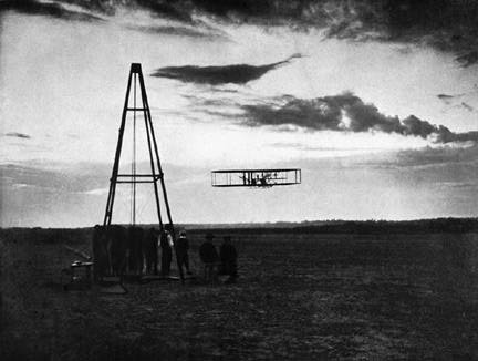 Photo of Night Flight at Kitty Hawk from https://www.nasm.si.edu/wrightbrothers/