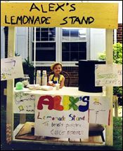 Alex's Lemonade Stand<br>Image Source: Alex website