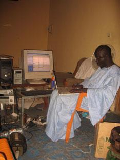 Mr. Seck in his studio (Courtesy of Mr. Seck)
