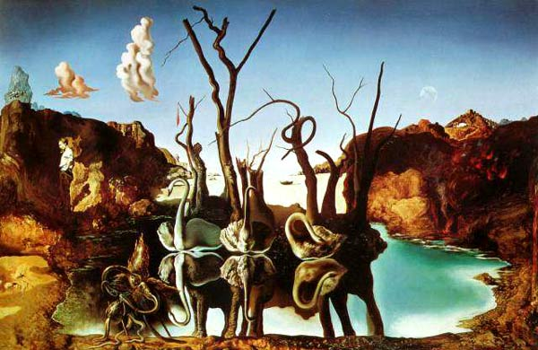 (http://www.virtualdali.com/37SwansReflectingElephants.html)