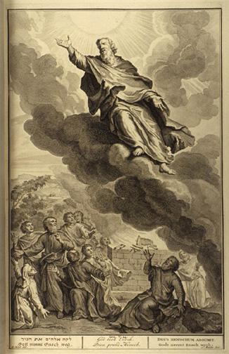 God took Enoch<br>Illustrated by Gerard Hoet (1648-1733)<>http://www.mythfolklore.net