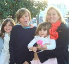 Joanna and children in New York