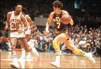 Pete playing in the pro's. (https://www.nba.com/history/players/maravich_summary.html)