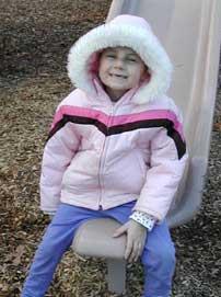Alexandra Scott playing on the slide (my hero)