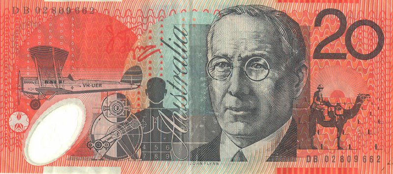 John Flynn on Australian twenty dollar note