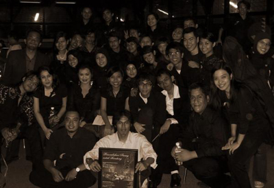 My teacher with my orchestra :)