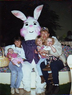 My whole family with the Easter Bunny (my mom took it!)