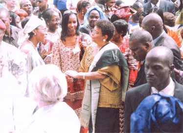 With Liberian President Madam Ellen Johnson-Sirleaf (Courtesy of Oumoul Khary)