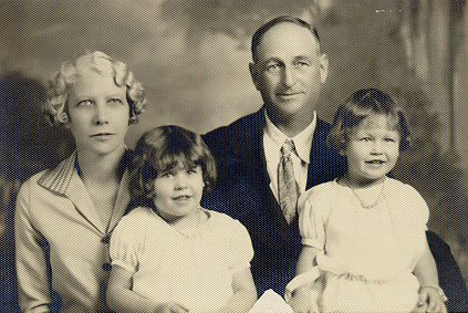 Zilpha and her sister with her parents (http://www.zksnyder.com/Autobiography.html)