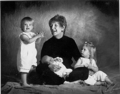 My grandmother, my cousin, my sister and me