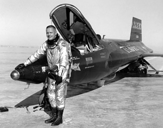 Neil Armstrong as a fighter pilot<br> (https://www.nasa.gov/missions/<br>research/neil_armstrong.html)