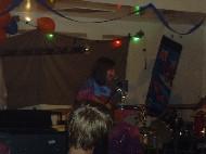 Slater on stage (Arts Cafe)