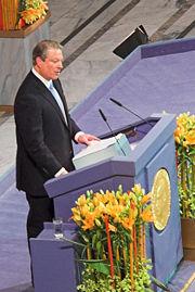 Al Gore receives the Nobel Peace Prize (Google)