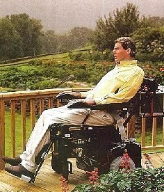 Christopher Reeve after the accident (internet)