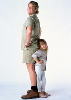 Steve Irwin and his daughter Bindi (swimatyourownrisk.com)