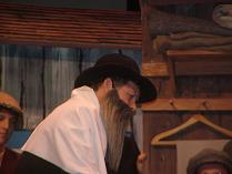 "Fred playing the Rabbi in ""Fiddler on the Roof"""