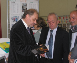 Giuseppe and former Italian Minister of Education DeMauro
