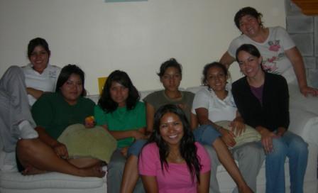 Angie, Rose, Gaby, Claudia, Vicky, Sarah, Esme (Sarah A.)