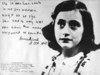 Anne Frank's famous diary page (Wikipedia)