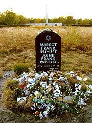 Anne Frank's grave (Wikipedia)