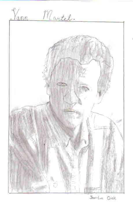 Sketch of Author: Yann Martel (I drew it Myself)
