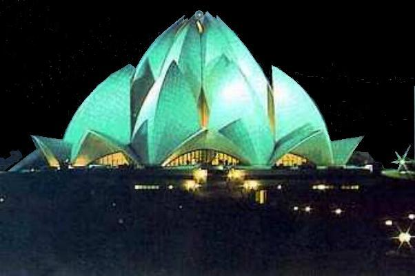 The Bahá'í Lotus Temple in India (http://www.indtravel.com/delhi/places.html)
