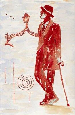 An Artist's rendition of James Joyce