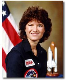 This is Sally Ride (http://www.jsc.nasa.gov/)