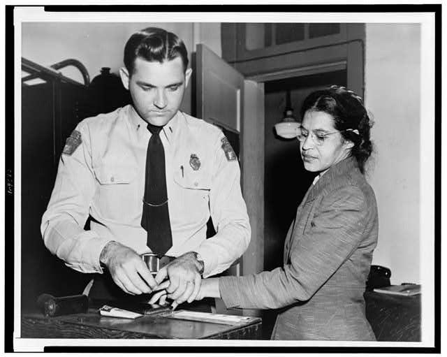 Rosa Parks beinig arrested