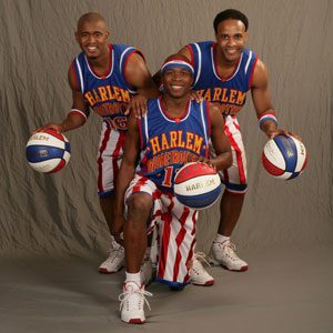 Three of the players (www.Harlemglobetrotters.com)