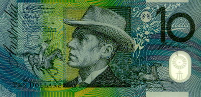 This is an Australian Ten Dollar note with a pict (https://members.ozemail.com.au/~enigman/australia/fifty_dol.htm/#50)