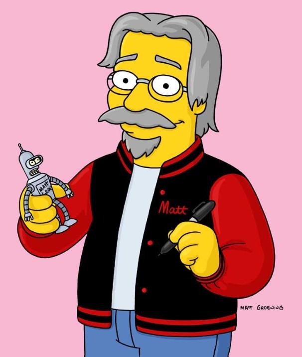 Matt with Bender from Futurama (https://www.seanconnolly.co.uk/matt_with_bender.jpg)