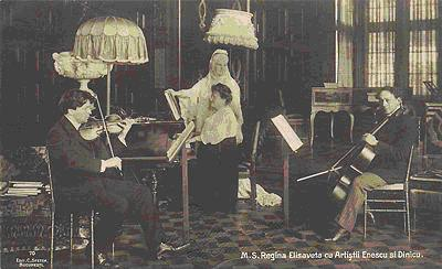 Enescu playing the violin<br>(wikipedia.org)