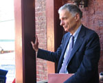 Nader takes a moment of quiet