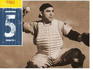 Yogi Berra in action. (Courtesy of the Yogi Berra Museum and Learning Center)