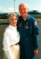 John Glenn, with his wife and hero, Annie Glenn. (Courtesy of NASA)