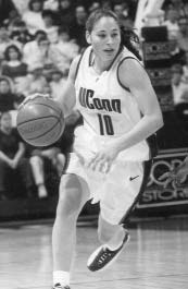 Sue Bird while playing for the UCONN Huskies. (UCONN)