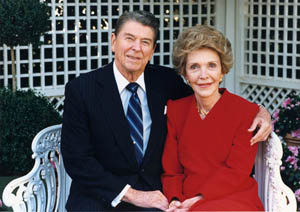 <p align=center>President Reagan with wife Nancy<br> (Courtesy Ronald Reagan Library)</p>