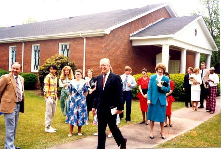 Jimmy Carter finishes up his Sunday School lesson. (National Park Service)